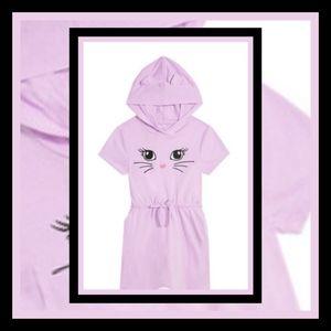 New! Fabkids Cat Hoodie Dress